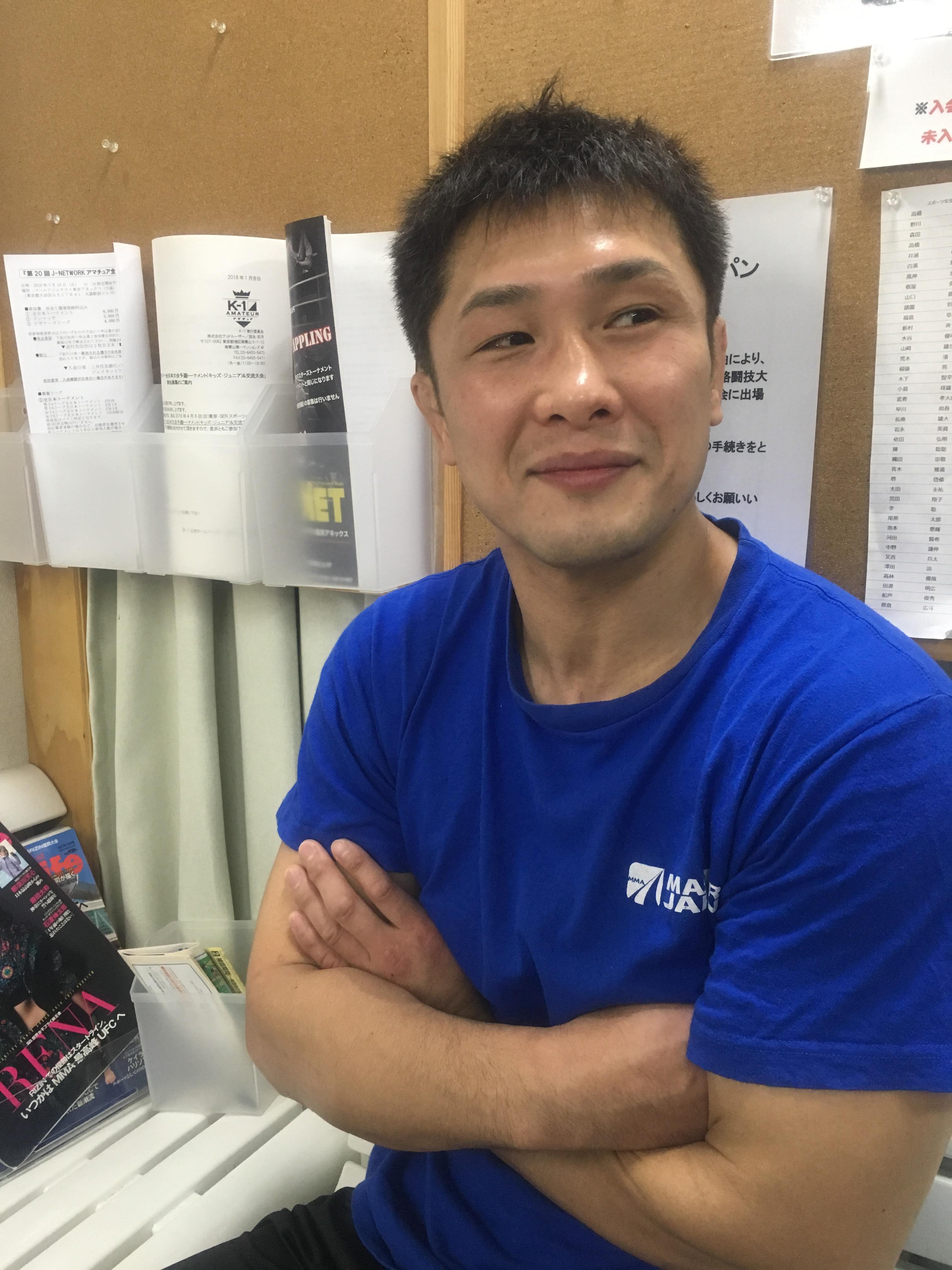 弘中代表来てます!